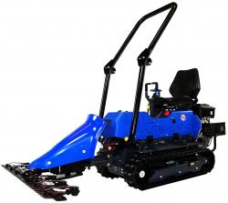 micro tracteur à chenille avec barre de coupe