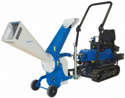 broyeur de branche pour micro tracteur à chenille