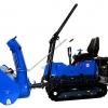 Micro tracteur à chenille avec fraise à neige