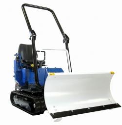 micro tracteur avec lame à neige