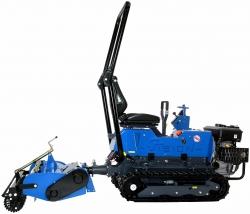 micro tracteur avec préparateur de sol