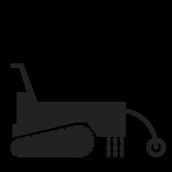 Gyro-broyeur à chenilles