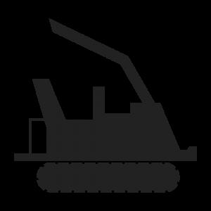 icone micro tracteur a chenille